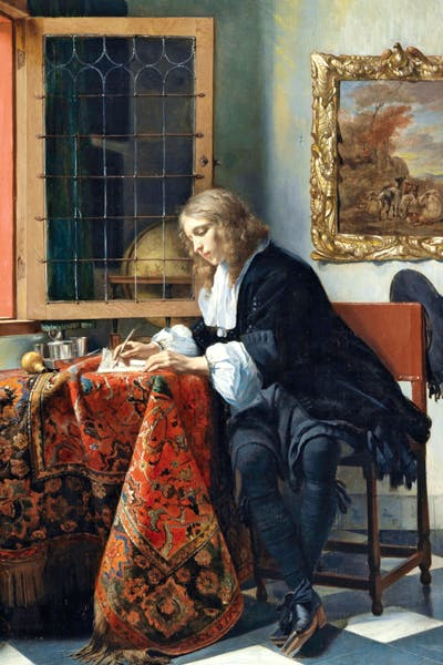 'Man Writing a Letter' by Gabriel Metsu