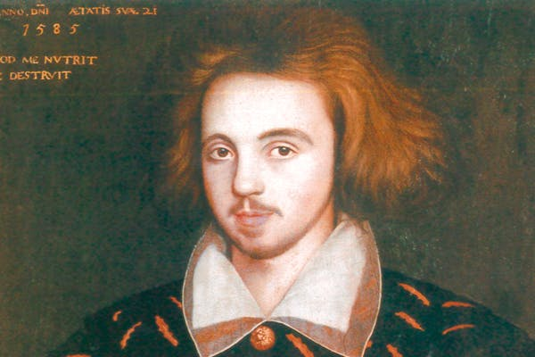 I, spy? 'A Man called Christopher Marlowe', 1585, by an unknown English artist, oil on panel, Corpus Christi College, Cambridge