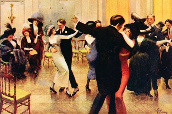 Last tango in Paris. Albert Guillaume captures the relaxed mood of Europe in 1913