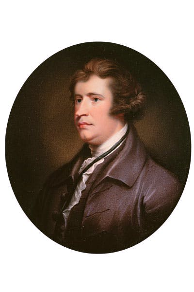 Miniature of Edmund Burke in middle age (English School)