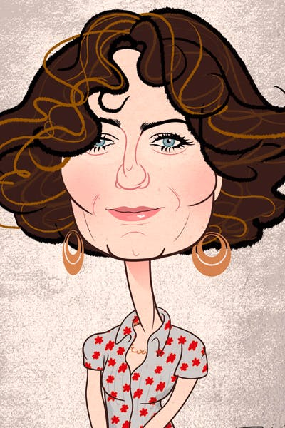 A beautifully designed weapon: Anna Chancellor