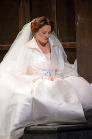 Exquisitely moving: Emma Bell as Elsa in 'Lohengrin'
