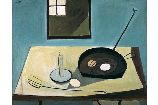 'Stil Life with Candlestick', 1949–50, by William Scott, on show at The Hepworth