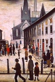 'The Fever Van', 1935, by L.S. Lowry
