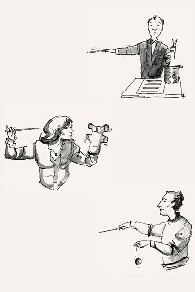 Things a conductor can do with his left hand