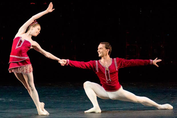 Ekaterina Krysanova and Vyacheslav Lopatin in Balanchine's 'Rubies'