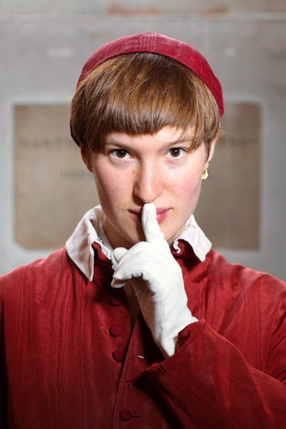 Gender bender: Sophie Crawford as Pope Joan