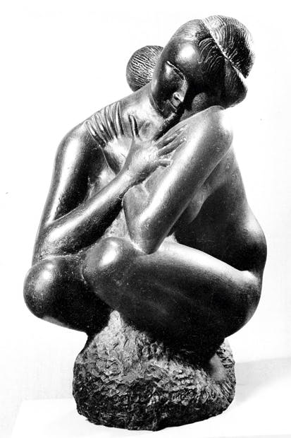 'Crouching Nude', 1956, by Emilio Greco