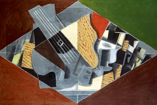 'Guitare et verre', 1917, by Georges Braque