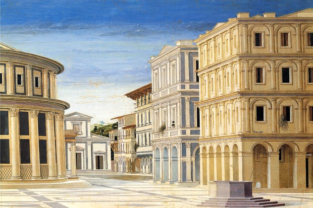 Renaissance view of the Ideal City: detail from a painting attributed to Francesco Giorgio Martini