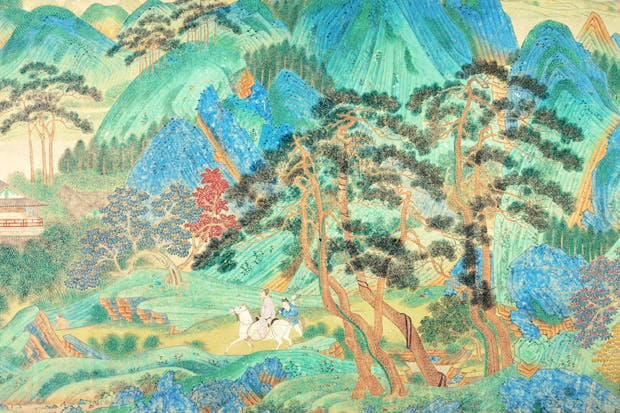 Detail from 'Saying Farewell at Xunyang', 16th century, by Qiu Ying