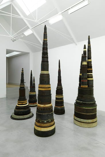 Acting as turret gateway: 'Minster', 1987, by Tony Cragg