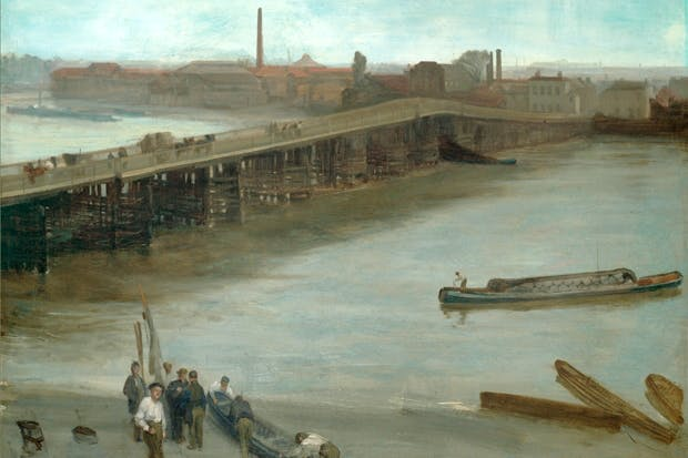 'Brown and Silver: Old Battersea Bridge', 1859–63, by James McNeill Whistler