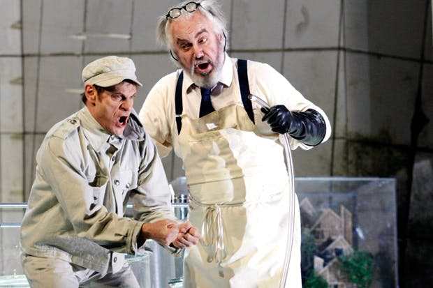 Simon Keenlyside and John Tomlinson in 'Wozzeck'
