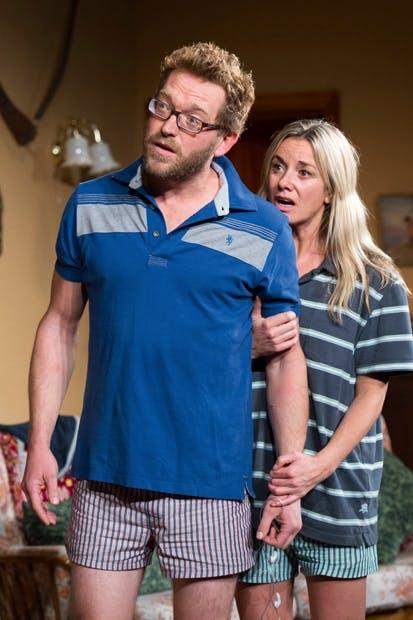 Terrific: Barnaby Kay (Keith) and Tamzin Outhwaite (Briony)