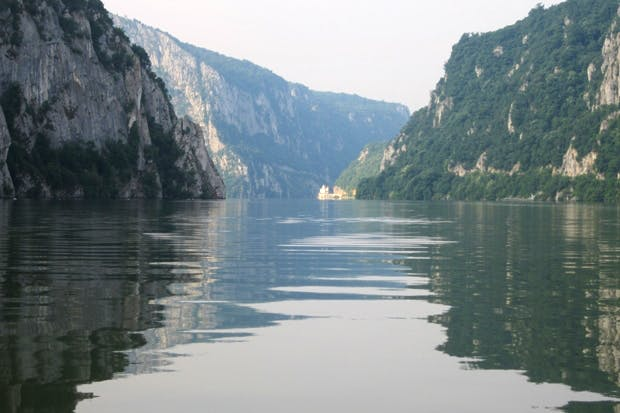 The gorge between Romania and Serbia, known as the Iron Gates of the Danube