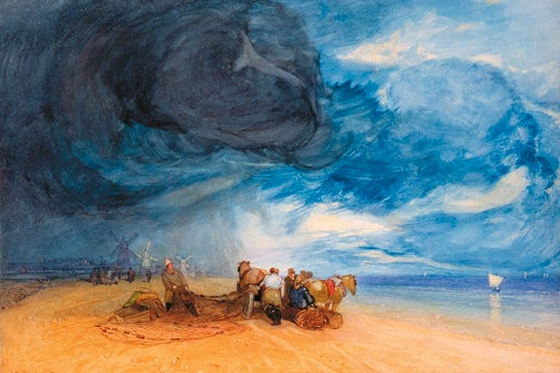 'Storm on Yarmouth Beach', 1831, by Cotman