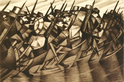 Returning to the Trenches, C.R.W. Nevinson