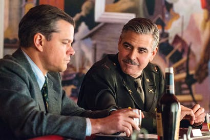 Crack team: Matt Damon and George Clooney in 'The Monuments Men'