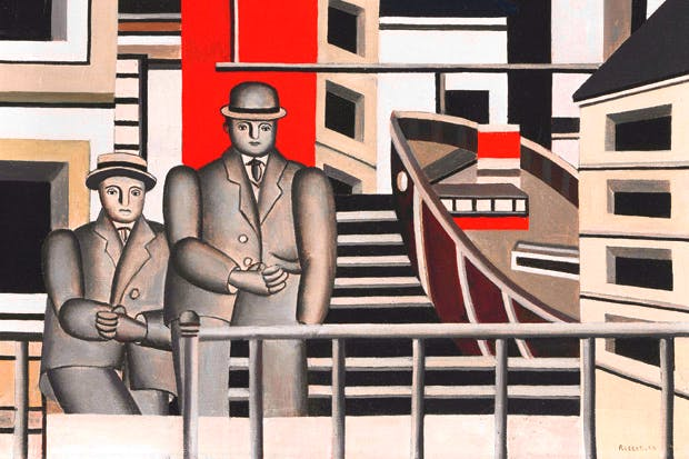 Fernand Léger's 'Animated Landscape', 1924, which shows the artist (left) and his dealer Léonce Rosenberg (right)