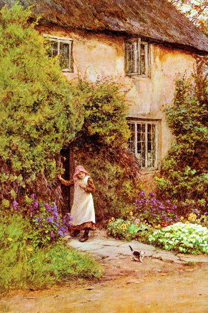 The real and the imagined: Flora Timms, under-educated and 'perennial second fiddle', c.1900;and the idyll conjured up by Helen Allingham, illustrator of Lark Rise to Candleford