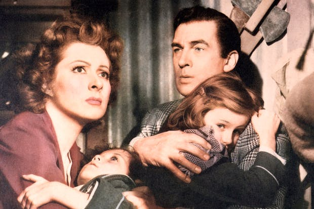 Greer Garson and Walter Pidgeon survive the Blitz in Mrs Miniver (1942).Churchill reckoned it was 'worth six war divisions' and Goebbels considered it an 'exemplary propaganda film', but to Lillian Hellman it was'a piece of junk'