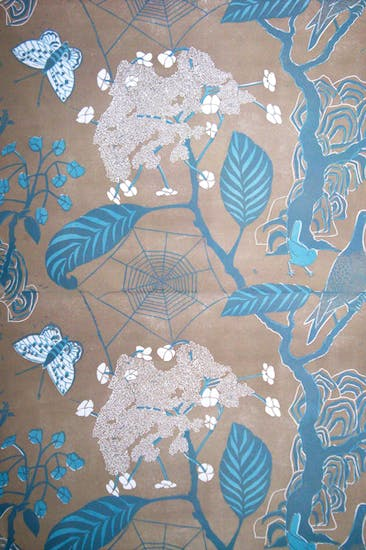 Marte Armitage's 'Cobweb' in turquoise and taupe, available at Hamilton Weston
