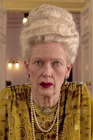 Insanely rich but unrecognisable: Tilda Swinton as Madame D