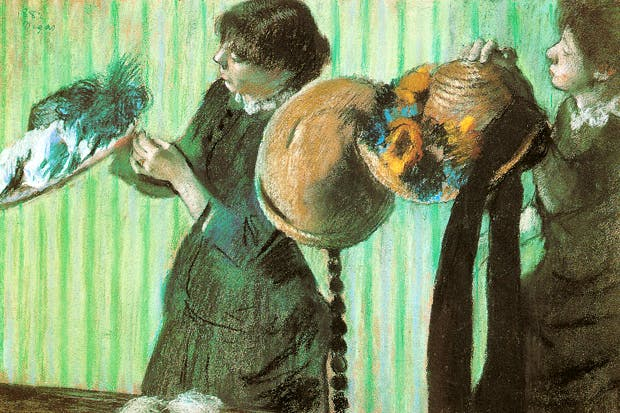 Edgar Degas - 'The Little Milliners', 1992. 'Hats, for Degas, were the urban equivalent of Monet's waterlilies at Giverny'.
