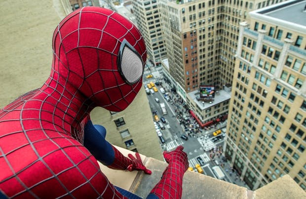 Ready to swoosh: Andrew Garfield as Spider-Man, aka Peter Parker