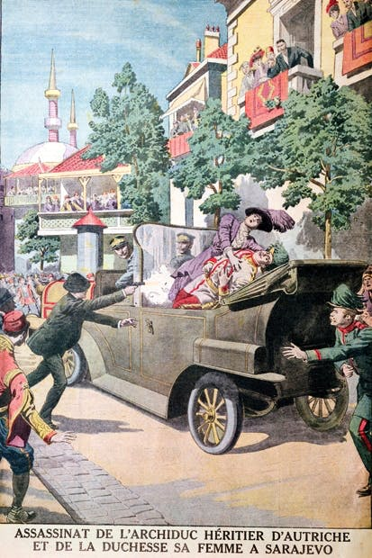 The assassination of the Archduke Franz Ferdinand of Austria (Le Petit Journal, 12 July 1914)