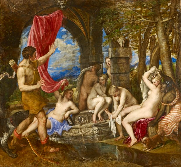 'Diana and Actaeon', 1556–59, by Titian