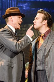 Bang on the money: Gary Kemp and Stefan Booth in 'Fings Ain't Wot They Used T'Be'