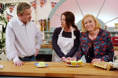 Paul Hollywood (Harry Enfield) with Mary Berry (Paul Whitehouse) in a spoof of 'The Great British Bake Off'