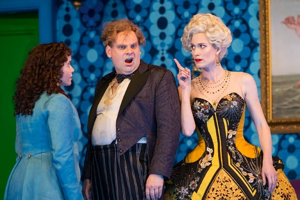 Octavian (Tara Erraught), Baron Ochs (Lars Woldt) and the Marschallin (Kate Royal)