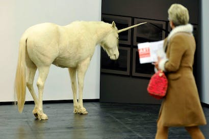 The sharp end of the art market: an Aleksandar Duravcevic sculpture at the Cologne Art Fair