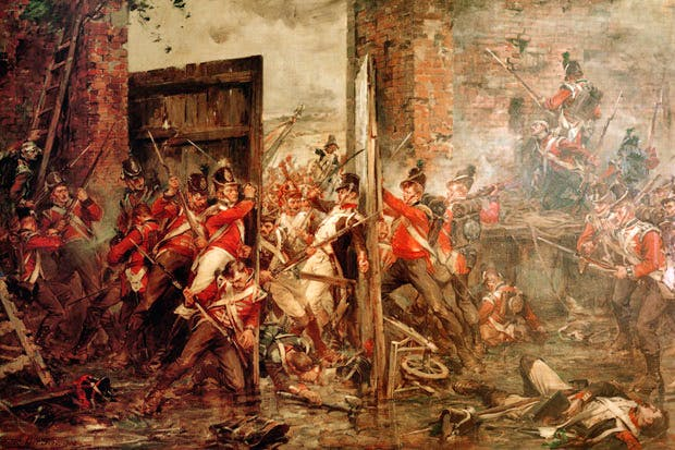 Decisive moment: 'Closing the Gates of Hougoumont', by Robert Gibb