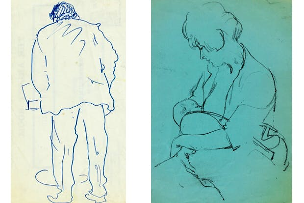 'He thought he could have made it as a visual artist — if only more people had liked his work.' Above: John Arlott reading (1977) and Kathy and Jessy (1963)
