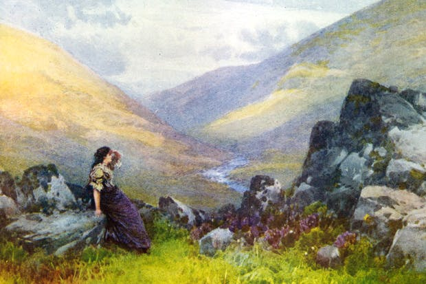 'Lorna Doone's bower'. An illustration from R.D. Blackmore's 'Romance of Exmoor', 1869
