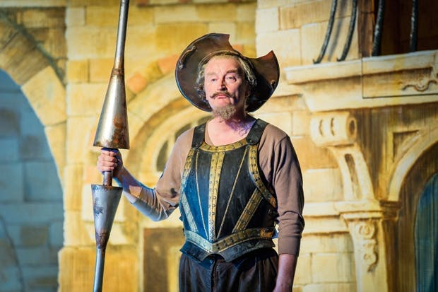 Clive Bayley in his guise as knight-errant