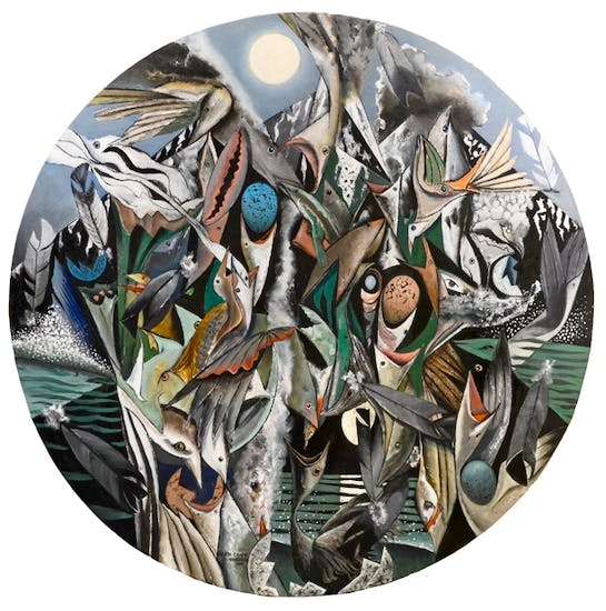'Tondo the Winged Hours of the Seabirds' by Keith Grant