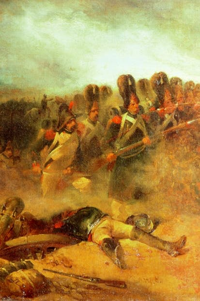 'The Final Advance of the Guard' by Nicolas Toussaint Charlet