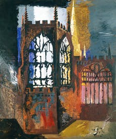 'Coventry Cathedral', 1940, by John Piper