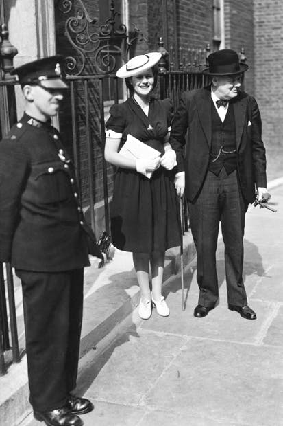 Mary and Papa, Downing Street, July 1942
