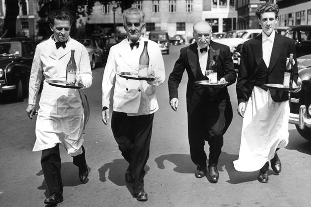 How it used to be done: practice for the 1955 Soho Waiters' Race, from Soho Square to Greek Street