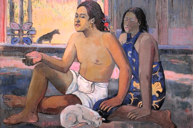 Gauguin's Pacific Islanders owe as much to travel literature as to direct observation.