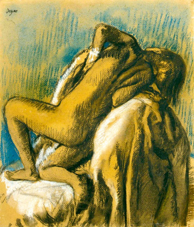 'After the Bath (Le repos après bain)', 1897, by Edgar Degas, at Stephen Ongpin