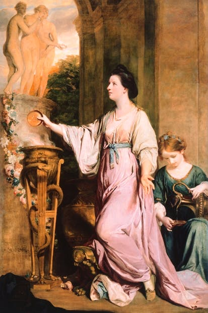 'Lady Sarah Bunbury Sacrificing to the Graces' by Sir Joshua Reynolds