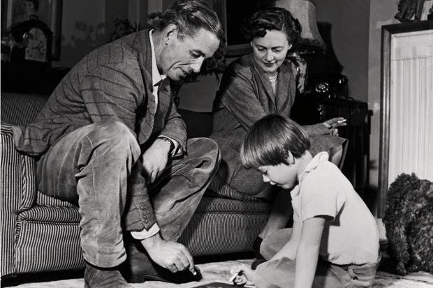 Peter with his wife Celia Johnson and their daughter Lucy