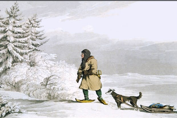 A Siberian exile prepares to shoot a black fox (c.1819)